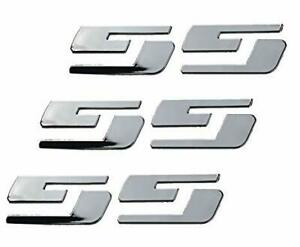 3ss Door Side Fender Tailgate Big Size Emblems For Chevy Gm Silverado Truck