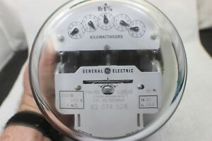 General Electric 2 Stator Watthour Meter Cat 700x36g8 V 66 s 6 Lug Guaranteed