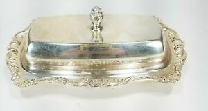 Epca Old English By Poole 5011 Silver Plated Butter Dish