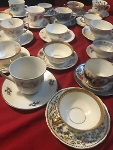 18 Sets Mismatched China Lot Tea Cups And Saucers Bulk China Cups And Plates Lot