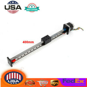 Ball Screw Linear Cnc Z Axis Slide Stroke Long Stage Actuator Nema23 Motor 400mm