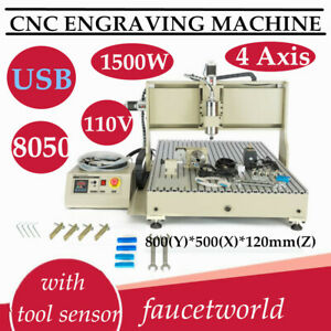 Usb 4axis 8050 Cnc Router Engraver Milling Machine Engraving Woodworking Cutter