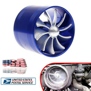 New Car Supercharger Turbine Turbo Saver Fan Charger Air Filter Intake Fuel Gas