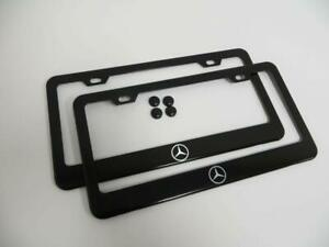 Stainless Steel License Plate Frame Cover Holder Metal For All Mercedes