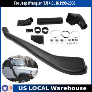 Air Intake Snorkel Kit For Jeep Wrangler Tj 4 0l I6 1999 2006 Black Us Seller