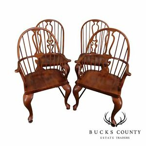 Bob Timberlake Lexington Furniture Set 4 Cherry Windsor Dining Chairs