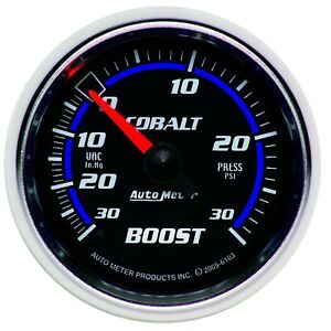 Autometer 6103 Cobalt Mechanical Boost Vacuum Gauge