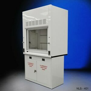 4 Ft Chemical Fume Hood W Flammable Base Cabinet In Stock E1 172
