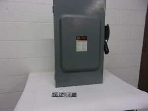 Square D 600 Volt 200 Amp Fused Disconnect Safety Switch dis3811