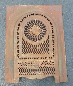 Vintage Cast Iron Fireplace Surround With Cover 1882 13