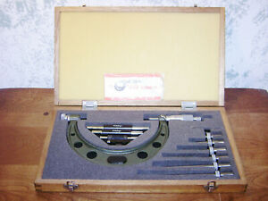 Mitutoyo 0 6 Inch Micrometer Set No 104 137 W Standards Lot1