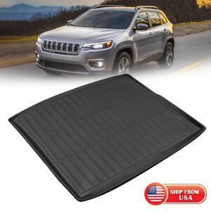 Rear Trunk Tray Cargo Liner All Weather Floor Mats Fit 2014 2018 Jeep Cherokee