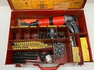 Hilti Dx400b Powder Actuated Tool With Steel Case And Extras