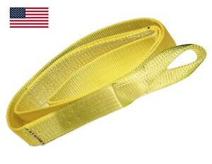 Nylon 3 X 6 Ft 2 Ply Lifting Pulling Towing Strap Sling Made In Usa Tree Saver