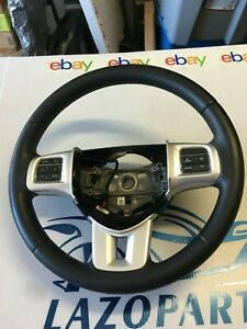 2011 2014 Dodge Charger Steering Wheel Black Leather Oem