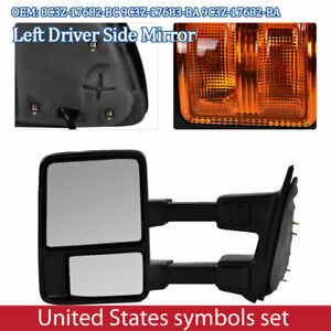Left Driver Side Power Heated Led Signal Towing Mirror For Ford F250 F350 F450