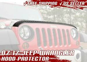 07 17 Jeep Wrangler Jk Hood Guard Protector Cover Aeroskin Diamond Armor Black