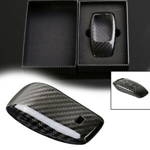 1pc Carbon Fiber Car Smart Key Case Cover Shell For Benz E class E300 E400 Sedan