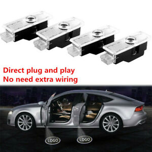 4 X Led Car Door Light Logo Welcome Courtesy Projector Lighting For Bmw Series
