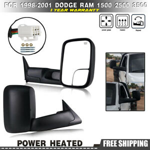 For 1998 2001 Dodge Ram 1500 1998 2002 Ram 2500 3500 Towing Mirrors Power Heated