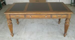 Seven Seas Executive Desk With Leather Top By Hooker 31 High X 65 Long X 35