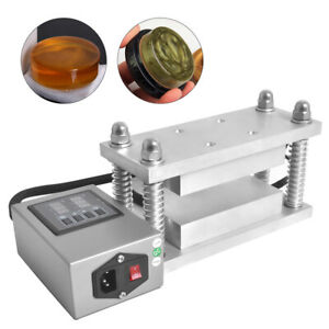 3x6 Rosin Caged Plates Pairs 20 Ton Hydraulic Press Dual Heater 600w Top New