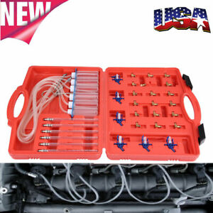 Diesel Injector Fuel Line Flow Diagnostic Cylinder Common Rail Adapter Tester