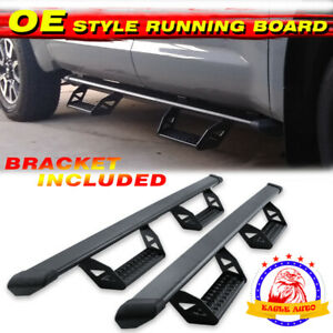For 07 18 Chevy Silverado Crew Cab Running Boards Gmc Sierra Nerf Bars Side Step