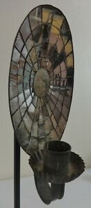 Antique Oval Shaped Mercury Glass Wall Candle Sconce Ca 19th Century