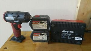 Snap On 14 4v 3 8 Impact Wrench Ct4410a W Ct620 Charger Two Ctb4147 Batteries