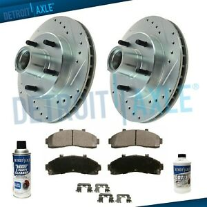 Front 287mm 2wd Ford Explorer Ranger Mountaineer Drill Brake Rotor Ceramic Pad