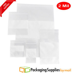 Clear Reclosable Bag W White Block 2 Mil Combo Pack 2000 Count 1000 Pcs size