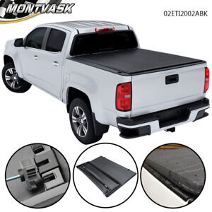 For 2016 2017 Toyota Tacoma Double Cab 5 Short Bed Black Trifold Tonneau Cover