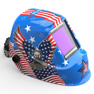 Wide Viewing Solar Power Auto Darkening Welding Helmet Welder Mask Hood Tig Mig