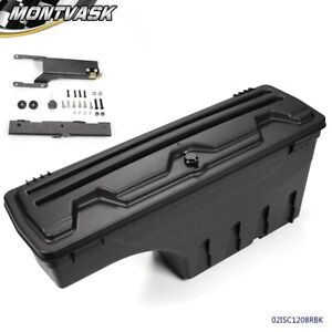 Black Truck Bed Storage Box Toolbox Rear Right Side For 2015 2019 Ford F150