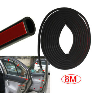 Universal 8m Car D Shape Rubber Seal Weather Strip Door Edge Moulding Trim