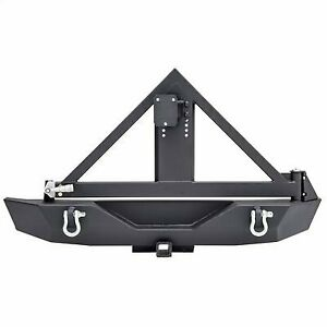 Smittybilt Xrc Armor Rear Bumper With Hitch And Tire Carrier 76856