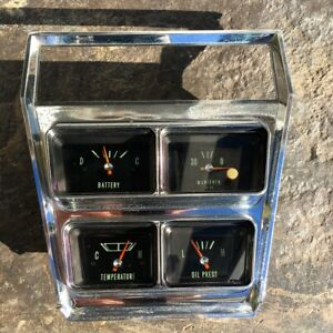 Rare 1966 Chevy Impala Ss Center Gauges Console Package 6456790 Caprice Biscayne