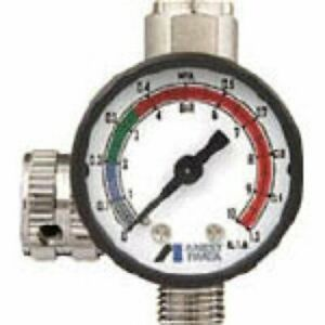 Anest Iwata Hand Pressure Gauge Ajr 02s vg Air Regulator For Spray Guns New