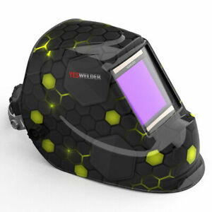 Extra Wide Screen Welder Mask True Color Auto Darkening Welding Helmet Tig Mig