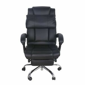 Vinmax Executive Reclining Office Chair Ergonomic High Back Leather Footrest