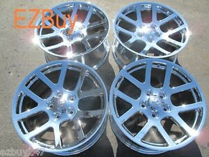 20 Dodge Ram 1500 Srt10 Style Set Of Four New Chrome Wheels Rims 2223