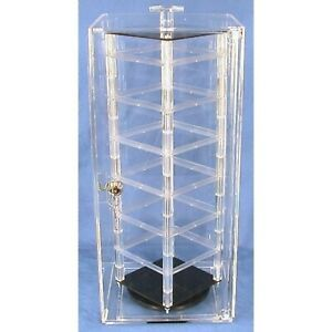 48 Card Revolving Earrings Display Rotating Case Stand