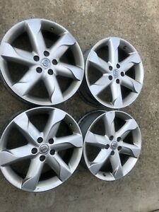 2009 2010 Nissan Murano Oem Factory 18 Silver Wheels Rims Caps And Tpms Inc