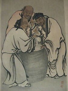 Wow Vintage Japanese Woodblock Print Rich And Compelling
