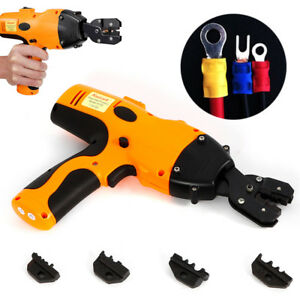 Electric Wire Crimper W 12 Ton 4 Dies Battery Cable Lug Terminal Crimping Tool