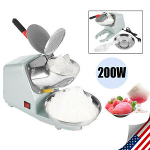 Commercial Vendor Electric Snow Cone Ice Shaver Maker Shaving Crusher Machine Us