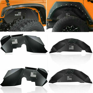 Rear Front Fender Liner Flares Off road Fits 2007 2018 Jeep Wrangler Jk 4wd