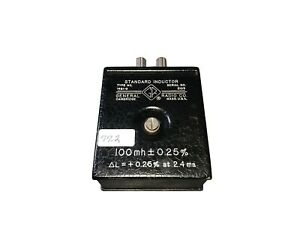 General Radio Model 1481 g Standard Inductor 100mh 0 25