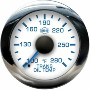 Isspro R13599 Ev2 Transmission Temperature Gauge 100 280f White Dial 2 1 16in